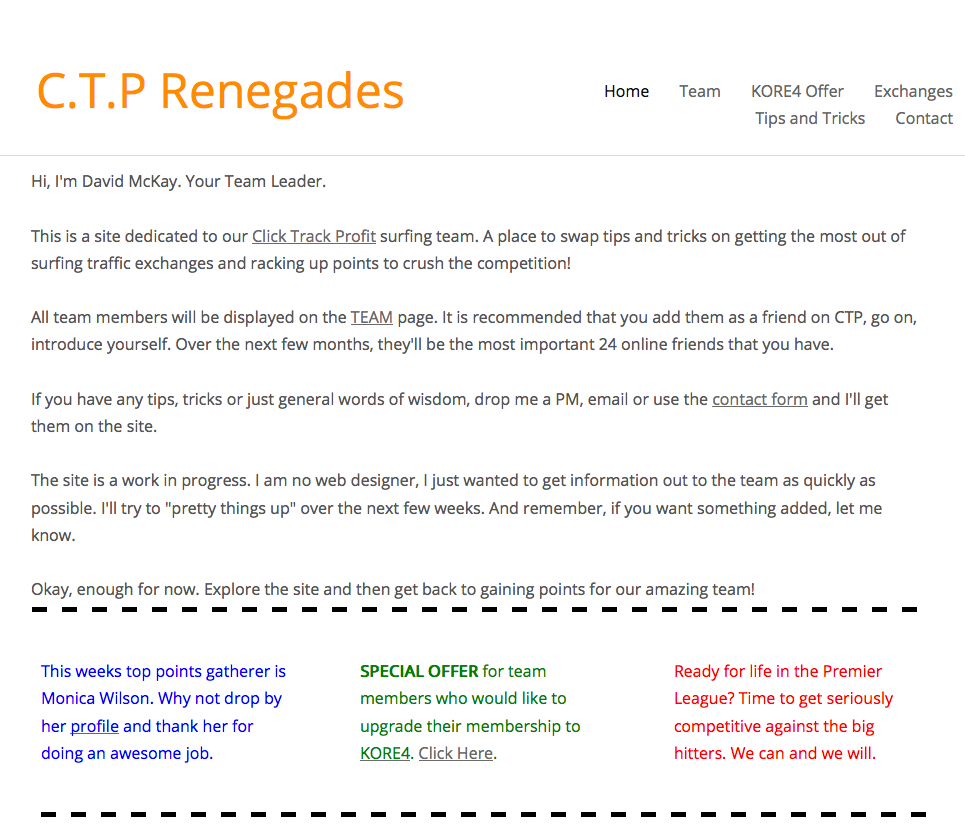 CTP Renegades blog