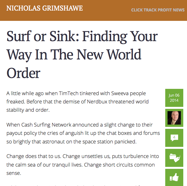 Nick Grimshawe blog post