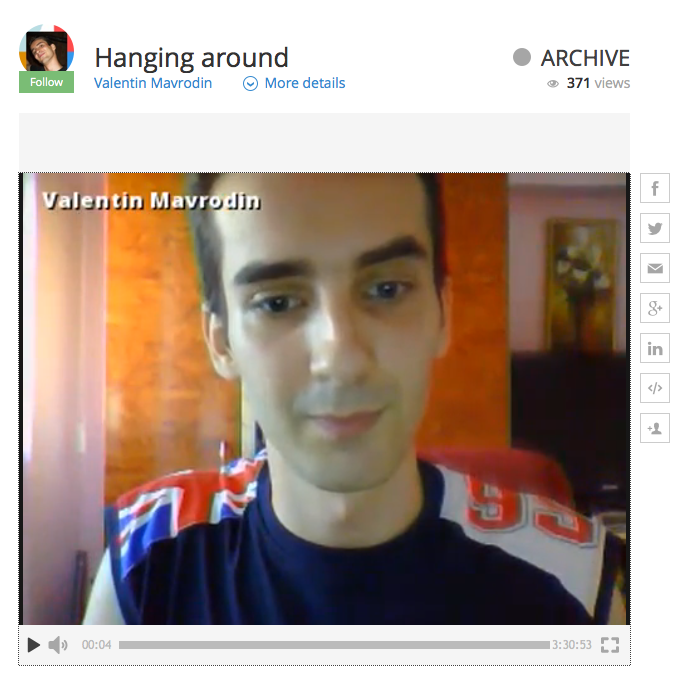 Valentin Mavrodin Hanging Around Spreecast recording