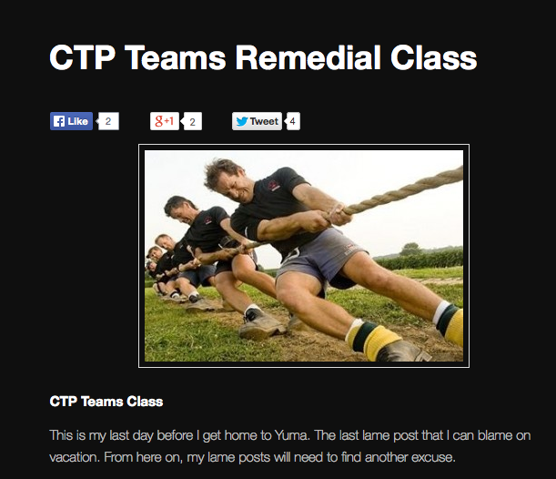 Tom Wacker - CTP Teams Remedial Class
