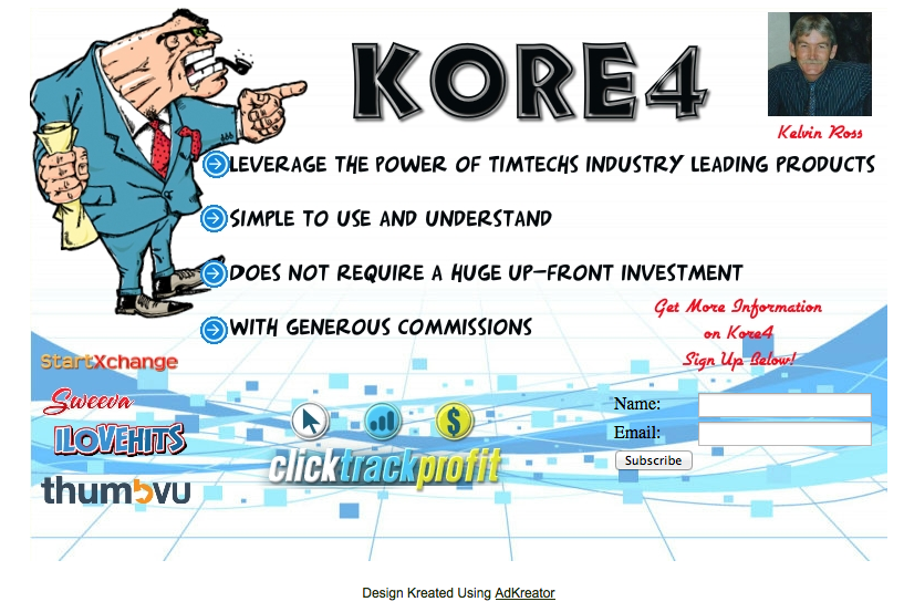 Kore4 squeeze page