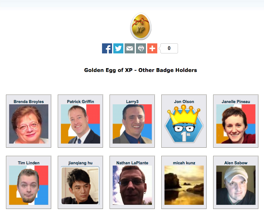 golden Egg of XP first badge holdersScreenshot 2014-08-13 20.25.39