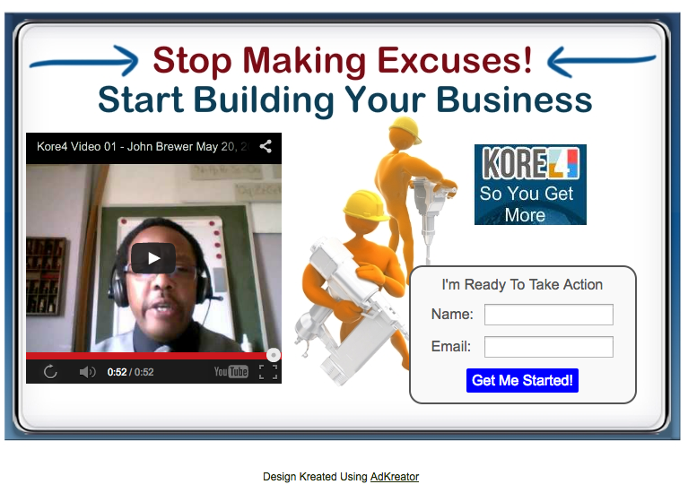 John Brewer - Stop making excuses splash page