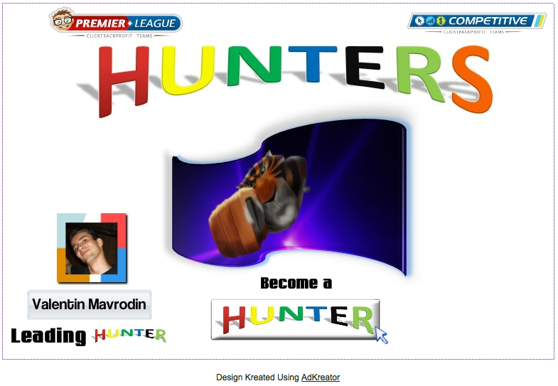 Hunters CTP Team splash page