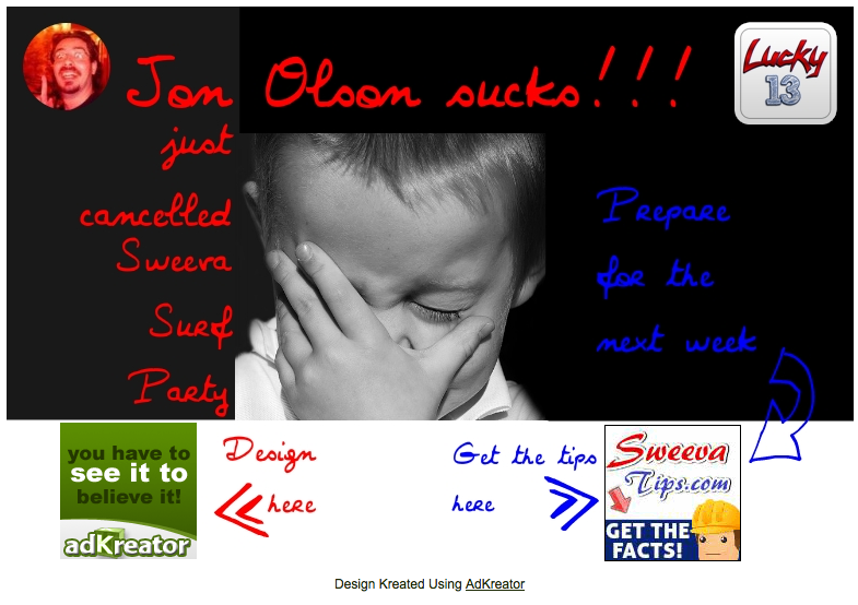 Jon Olson sucks splash page