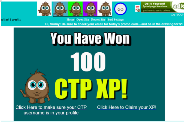 CYFO XP giveaway page