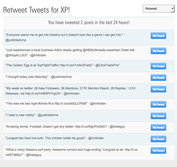 CTP Retweet for XP