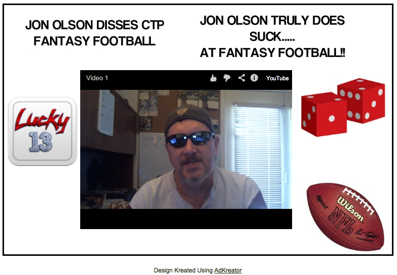 CTP Fantasy Football splash page