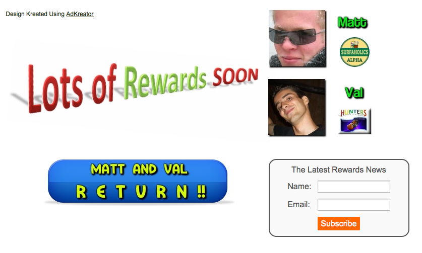 Matt and Val Return squeeze page