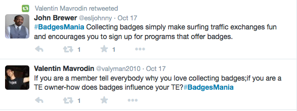 Valentin Mavrodin starts #BadgesMania campaign on Twitter for CTP Badges