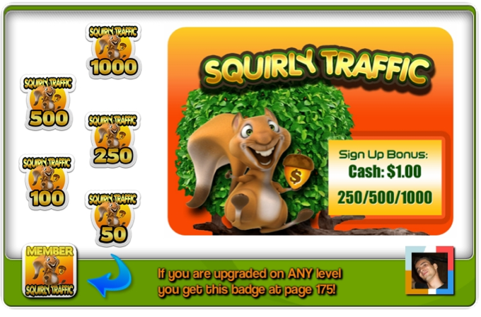 Valentin Mavrodin Squirly Traffic has badges splash page