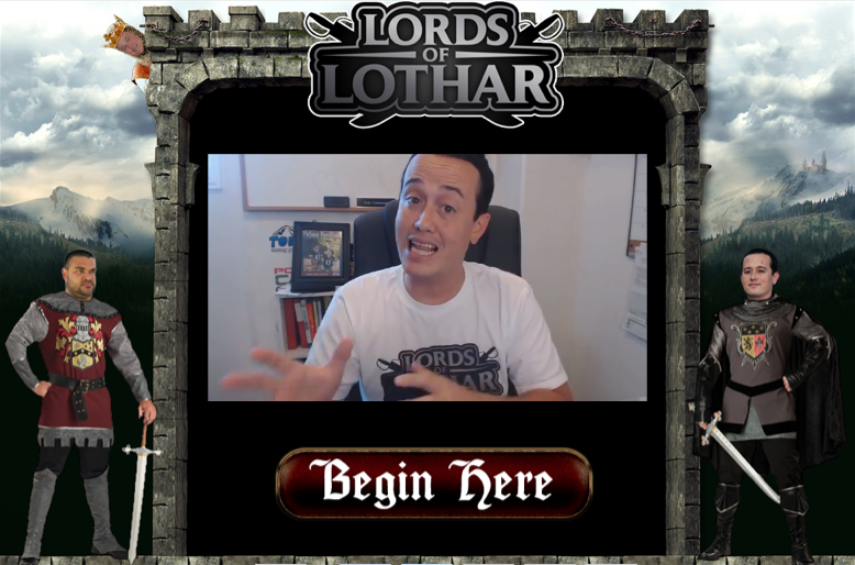 Lords of Lothar is Live Splash Page