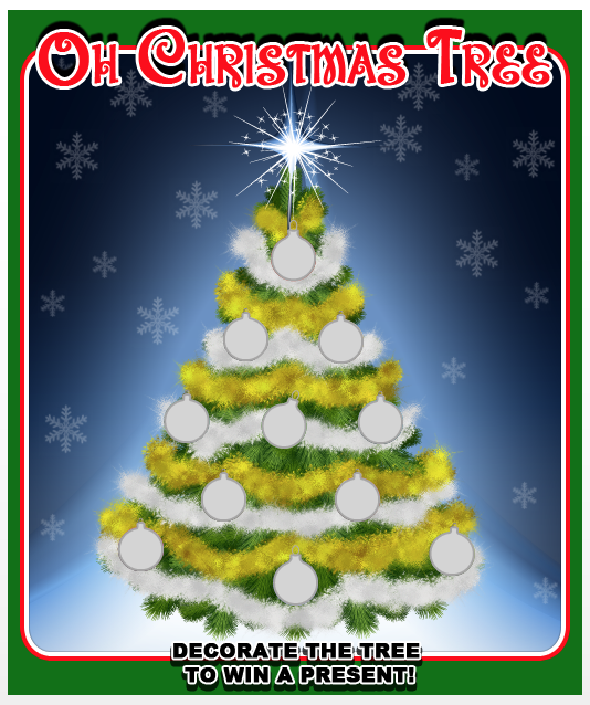 OH Christmas Tree CTP Christmas Mini Prize Card