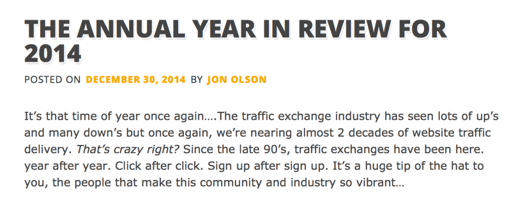 Jon Olson reviews 2014 te community in HEN