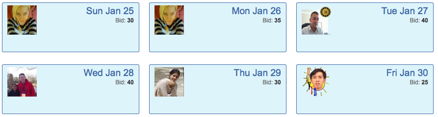 CTP Chat Ads screenshot showing successful bids
