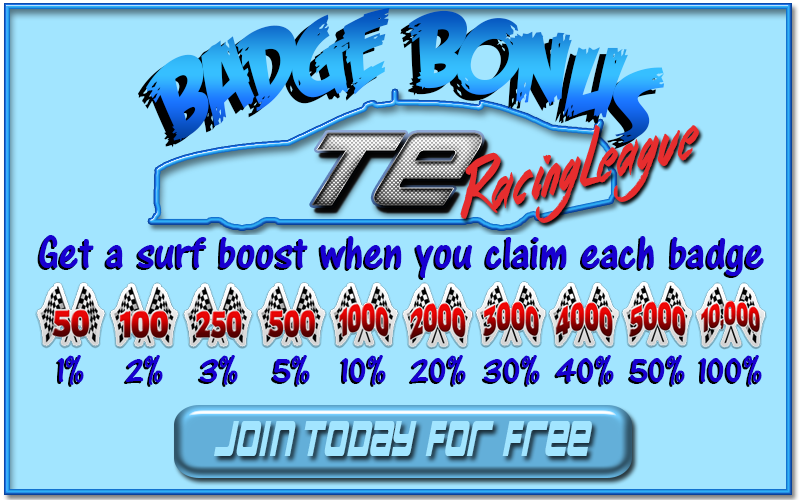 Badge bonus at TERacing League