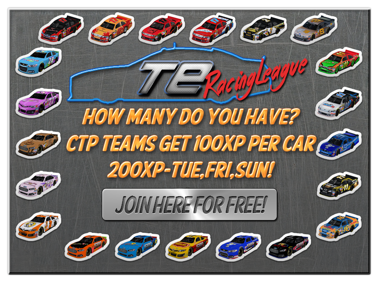 Gain bonus XP at TERacingLeague for collecting car badges