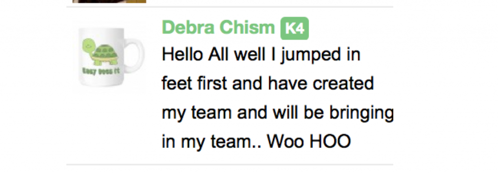 Debra Chism announces creation of CTP Teams newest team Easy Team in CTP Chat on day one of Season Three