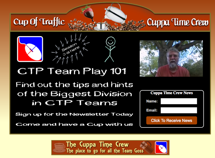 CTP Teams Cuppa Time Crew Division video splashpage by Russell Stockley