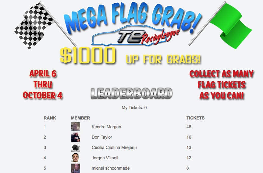 Robert Arnold TE Racing League Mega Flag Grab leaderboard