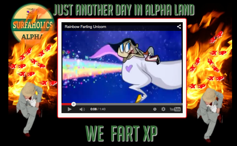 SAA splash page We Fart XP