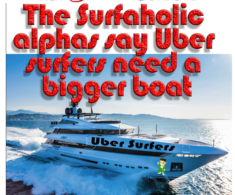 Biger Boat splash page by Uber Surfers